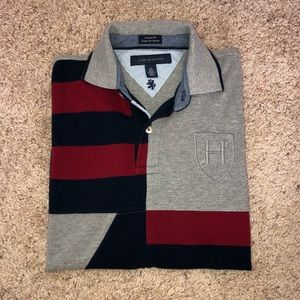 Tommy Hilfiger Gray/Red/Blue Block Polo Shirt